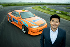 Drift Academy driver Sky Zhao who has opened the Evergreen Drift Park at Meremere. Photo /  Dean Purcell