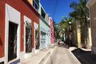 Historic streetlamps and pastel colours guide the way through Mazatlan's quiet Centro neighborhood. Photo / Neece Regis, The Washington Post