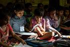 School children in class in Agra, India. Photo / Mike Scott
