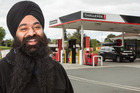 Challenge Malfroy Rd owner Harpreet Singh says giving customers cheaper petrol is important to his team. Photo / Stephen Parker