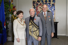 Millan Ruka (MNZM) with Governor General Patsy Reddy and her husband Sir David Gascoigne.