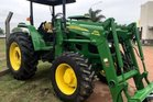 The stolen near-new John Deere 6100D is similar to this one, but with a yellow sunroof. Photo / Supplied