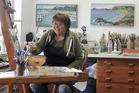 Painter Ann Winship started the Kerikeri Open Art Studios Trail five years ago. Photo / supplied