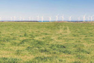 Wind turbines on coastal land near Waverley could look like this from SH3. Graphic / supplied