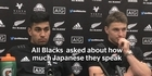 Watch: All Blacks asked about how much Japanese they speak
