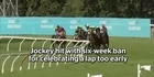 Watch: Jockey hit with six-week ban for celebrating a lap too early