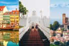 Copenhagen in Denmark was named top city, Sri Lanka top country and Piedmont in Italy the top region (L to R). Photos / Getty Images