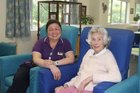 Switzer Residential Care worker Juliet Garcia, pictured with resident Kathleen Bowater.