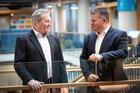 Fonterra chairman John Monaghan, left, and chief executive Miles Hurrell. Photo / Jason Oxenham