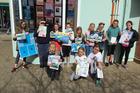Paraparaumu Beach School war on plastic poster winners. Photos / Supplied