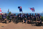 After 21 days and 2546 punishing kilometres the injured war veterans taking part in Operation Ride reached Cape Reinga on Sunday. Photo / Supplied