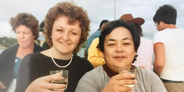 A Daily Post social gathering in the 1980s - Mata Mihinui (right). Photo / Supplied