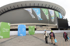 Guests arriving this week at the venue for the climate summit in Katowice, Poland. Photo / AP