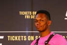 Israel Adesanya will meet Anderson Silva in the octagon at UFC 234 in February. Photo / Getty