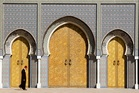 Golden gates: The entrance to the Royal Palace in Fez, Morocco. Photo / Getty Images