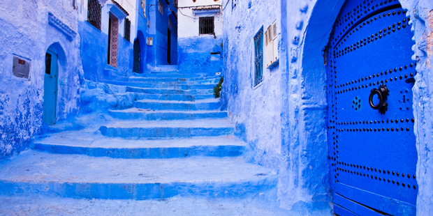 The blue town of Chefchaouen in Morocco. Photo / Thomas Roche, Getty Images