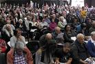 Hundreds of people gathered for the Ātihau Whanganui Incorporation annual general meeting at Wanganui Racecourse. Photo / Stuart Munro