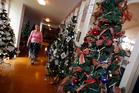 Diane Pennington - one of the organisers of the St John Golden Church Festival of Christmas Trees. Photo / Michael Cunningham
