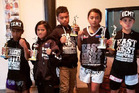 Local youth who represented East Coast Muay Thai at a martial arts tournament in the Cook Islands last month - all successfully - were, Sonny Trego, Mary Jane George, Lfah Trego, Lareesha Waipouri and Soul Heke. Most  will be in action at the Beast Coast Invasion martial arts fest in Whatuwhiwhi next week.