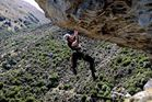 Oskar Wolff rocking climbing in Queenstown. Photo / Tony Burnell
