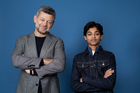 Andy Serkis, pictured here with Rohan Chand, was shocked when Netflix wanted to acquire Mowgli. Photo / AP