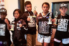 Local youth who represented East Coast Muay Thai at a martial arts tournament in the Cook Islands last month