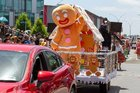 The Gingerbread man and his Gingerbread house was one of the favourites of the parade. Photo / Facebook