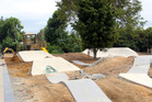 Final preparations for the Pop 'n' Good Bike Park and Pioneer Park Playground, opening on Friday, February 23.