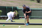 Paraparaumu Croquet Club member Brian Bullen at the Waikanae Croquet Club during the Association Croquet World Championship.