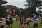 On a windy South Taranaki afternoon, the lineout became very scrappy for both Border and Taihape in their opening Premier game in Waverley today.