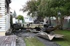 Damage done by a fire at a Levin church complex that happened over the holiday period.