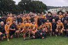 The New Zealand Parliamentary rugby team following one of their games in Wellington last year. Photo / Supplied