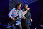 Toto lead vocalist Joseph Williams (right) with Steve Lukather. Photo / Reef Reid
