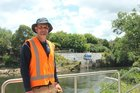 Waters operation manager Adam Donaldson at the river intake pump for Hamilton's water. Photo / Tom Rowland