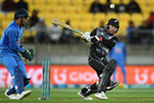 Tim Seifert batting in the first T20 clash against India in Wellington earlier this week. Photo / Andrew Cornaga
