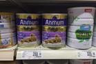 Fonterra's Anmum infant formula on sale in a supermarket in Hangzhou.