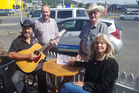 Alzheimers Northland's Kevin Salmon, back left, with Wai Worry Country Music's Ted Viskovich, Phil Godfrey and Carleen Still after they donated $4000 to Alzheimers. Northland from a music festival