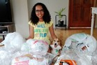 Alvira Murison-Swartz has been stashing her soft plastic recycling at home, while she waits for the Packaging Forum's scheme to restart April. Photo / Supplied